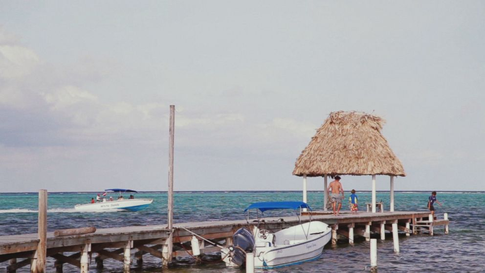 John McAfee's home in Belize, Ambergris Caye, is pictured here.