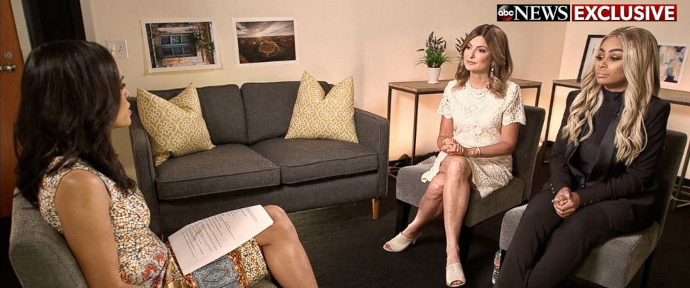PHOTO: Blac Chyna and her lawyer Lisa Bloom, left, discuss revenge porn in an interview with ABC News Linsey Davis.