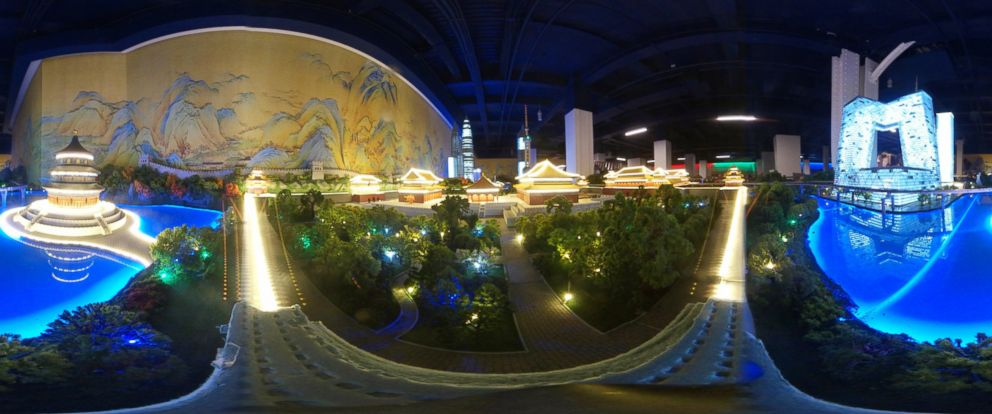 PHOTO: A Gullivers Gate miniature scene depicting a cityscape of Beijing, China.