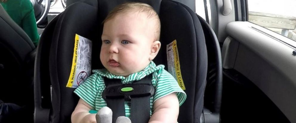 PHOTO: ABC News Paula Faris borrowed her producers 7-month-old son, Ben, to try out four technologies designed to prevent hot car deaths.