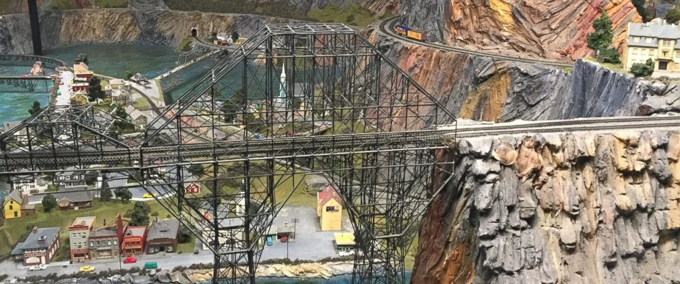 PHOTO: Iron Valley model railroad scene at Northlandz in Flemington, New Jersey.