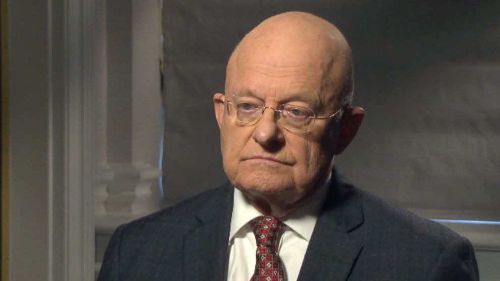 Former Director of National Intelligence James Clapper spoke with ABC News' Brian Ross on Mar. 6, 2017 in Washington, D.C.