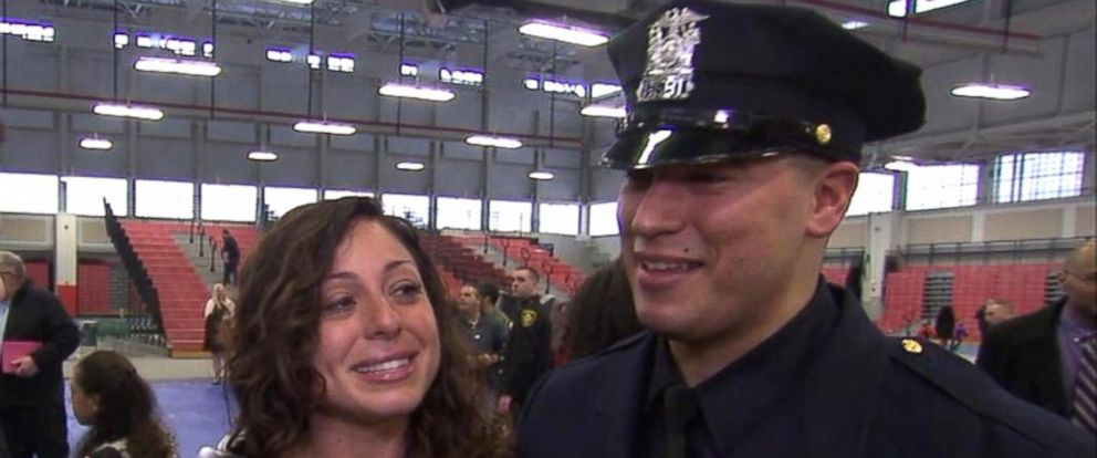 PHOTO: Officer Matias Ferreira became the first fully active-duty double-amputee police officer after he graduated from Suffolk County Police Department academy today.