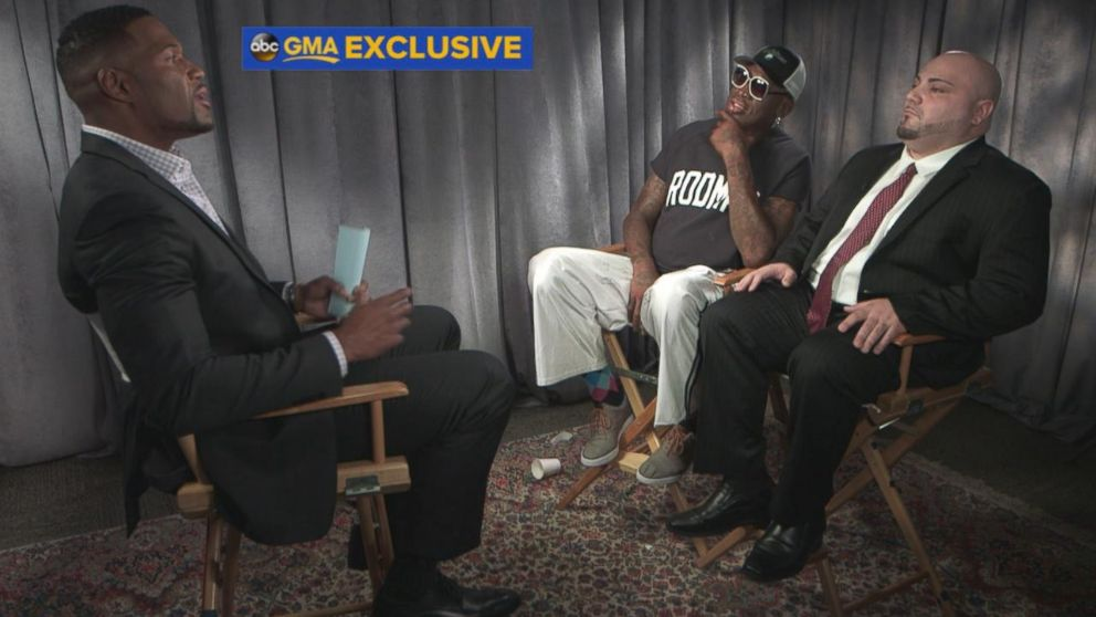 """Former professional basketball player Dennis Rodman spoke out in an exclusive interview with """"GMA"""" co-anchor Michael Strahan about his recent trip to North Korea."""