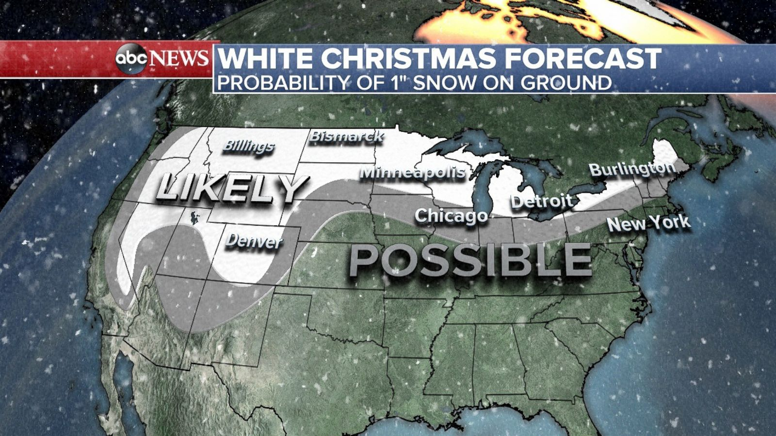 White Christmas Forecast.Where To Find A White Christmas This Year Abc News