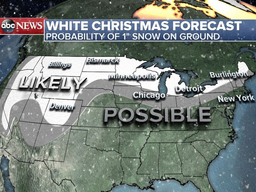 po snow is in the forecast for some u s cities on christmas