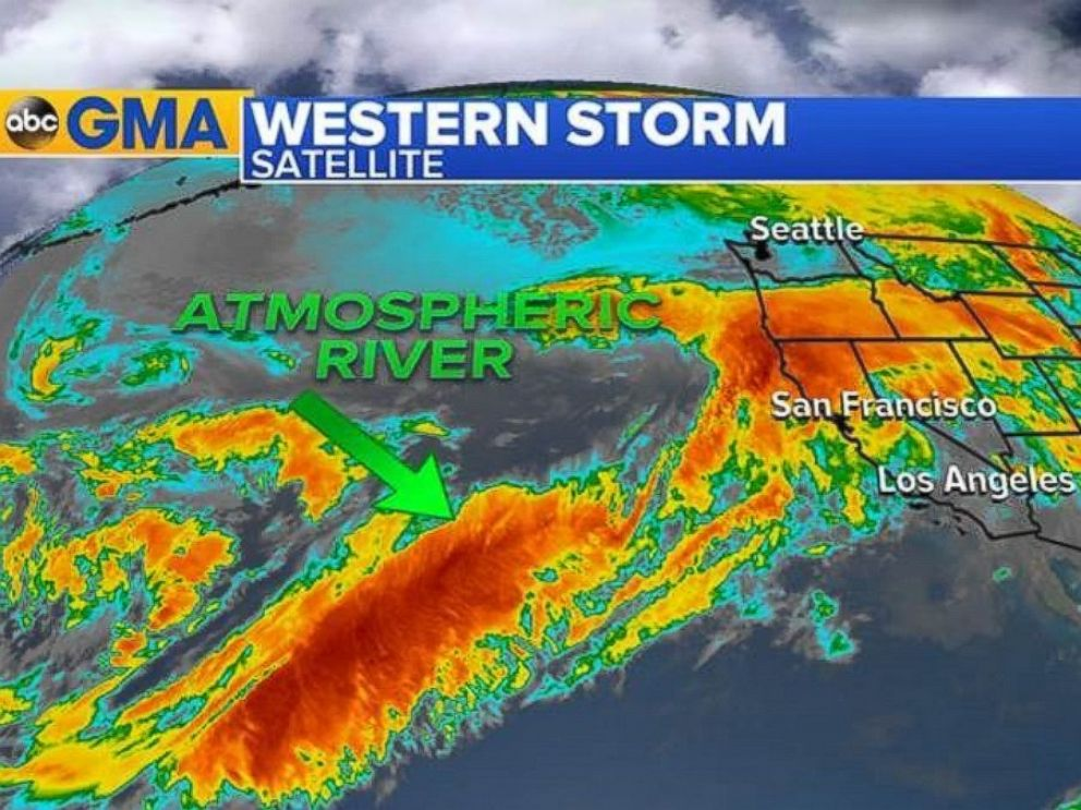 PHOTO: The Atmospheric River was aimed straight at California as of 7 a.m. ET on Feb. 7, 2017.