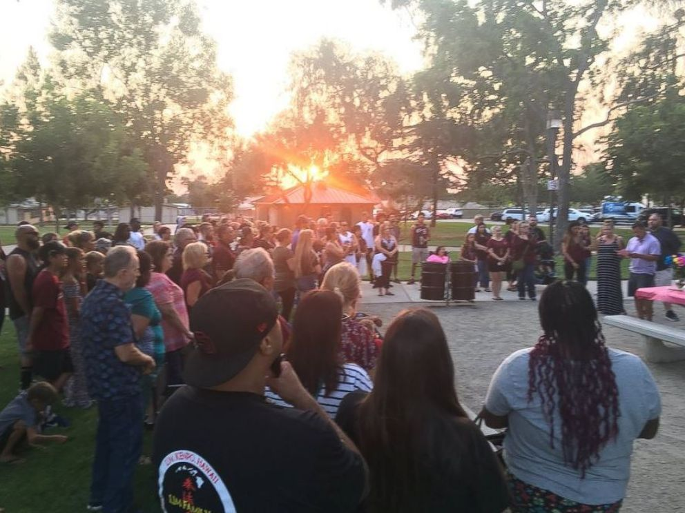 PHOTO: Kiera Bergmans family held a vigil for her in Phoenix on Saturday.