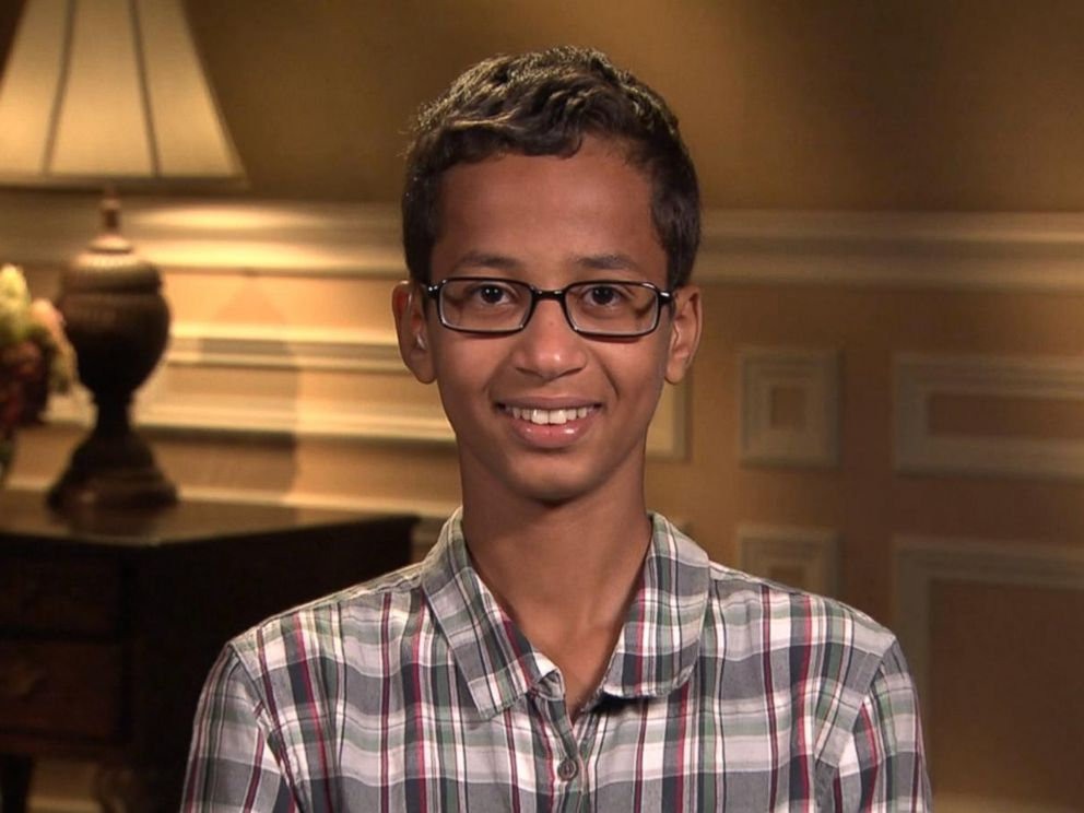 PHOTO:Ahmed Mohamed, who was arrested after school officials mistook his homemade digital clock for a bomb, says he wants to be an engineer.