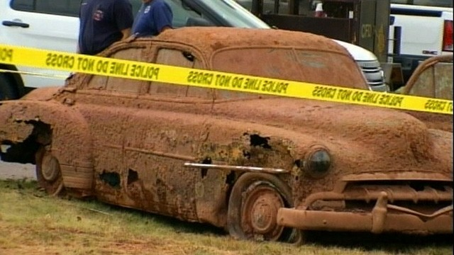 Cars Found in Oklahoma Lake Yield Skeletal Remains Video ...