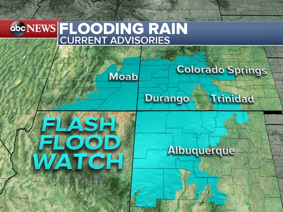 PHOTO: Flash Flood Watches continue for parts of the Southwest.