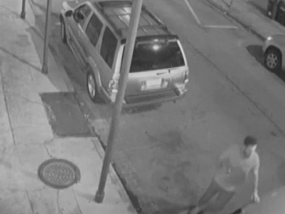 PHOTO: Surveillance video provided by New Orleans Police Department shows Peter Gold, 25, confronting a gunman in New Orleans.
