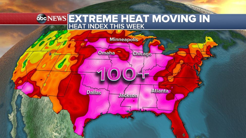 Major Heat Wave to Spread From Plains to East Coast This Week