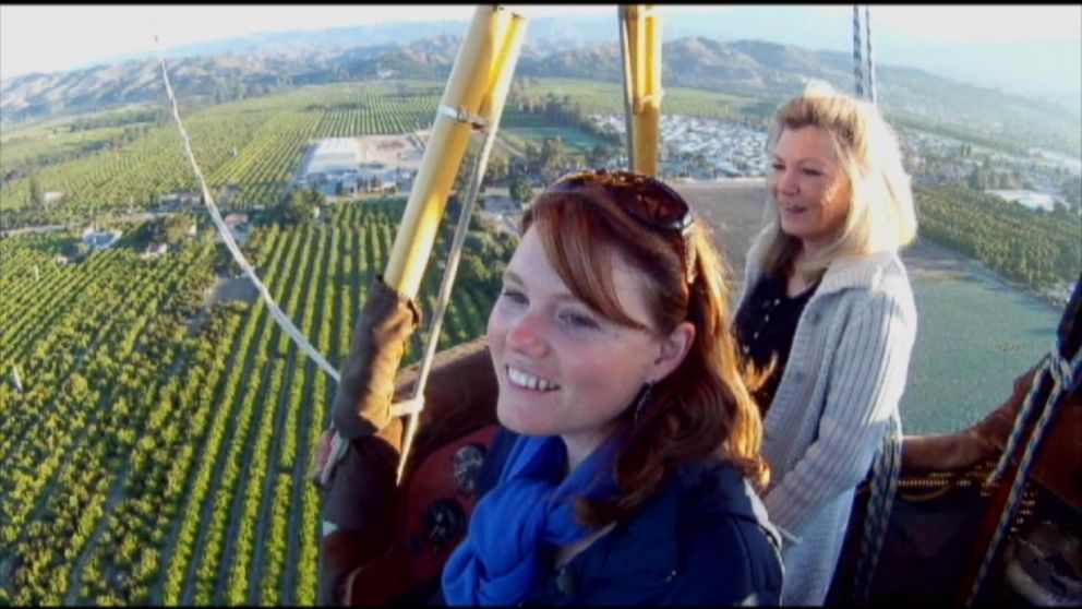 Jaycee Dugard went on a hot air balloon ride in 2011.
