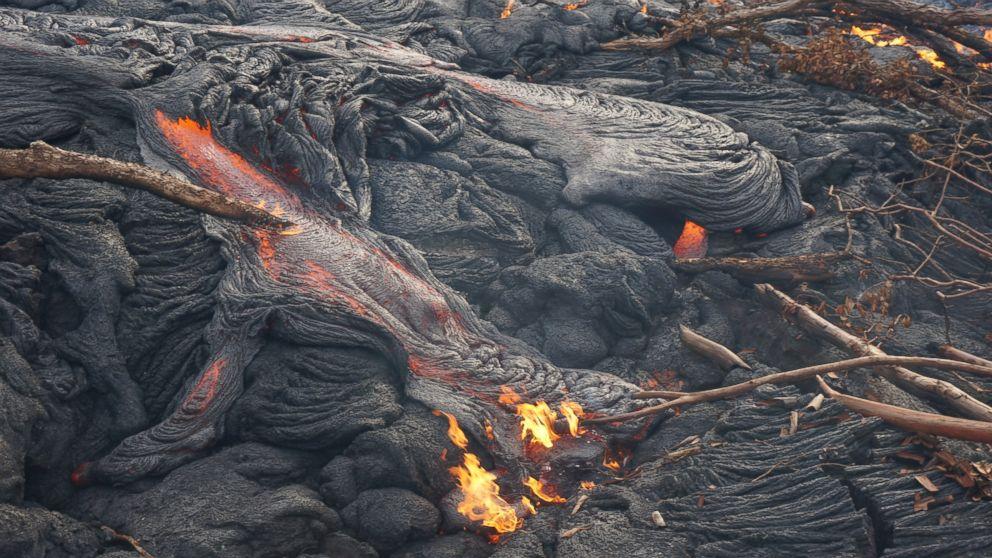 Red Hot Lava Flow Edging Toward Hawaiian Town - ABC News