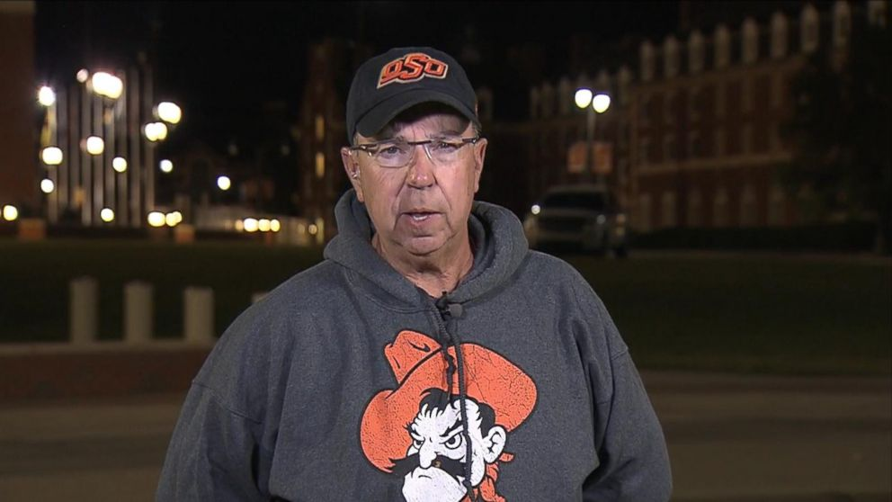 Larry Williams was one of the spectators who helped the injured when a car crashed into a crowd of people at Oklahoma State University's homecoming parade on October 24, 2015.