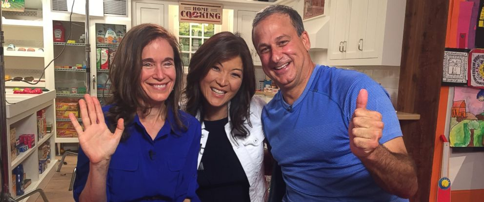 PHOTO: Melissa and Doug Bernstein, the makers of Melissa & Doug toys, are shown with ABC News Juju Chang (center).