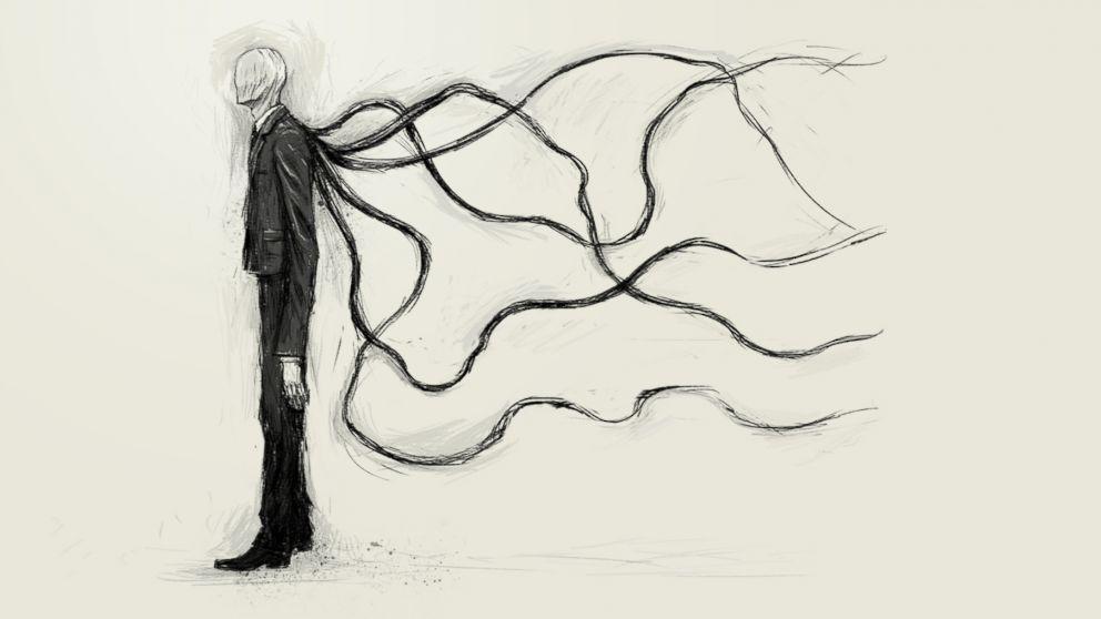 An illustration of Slender Man.