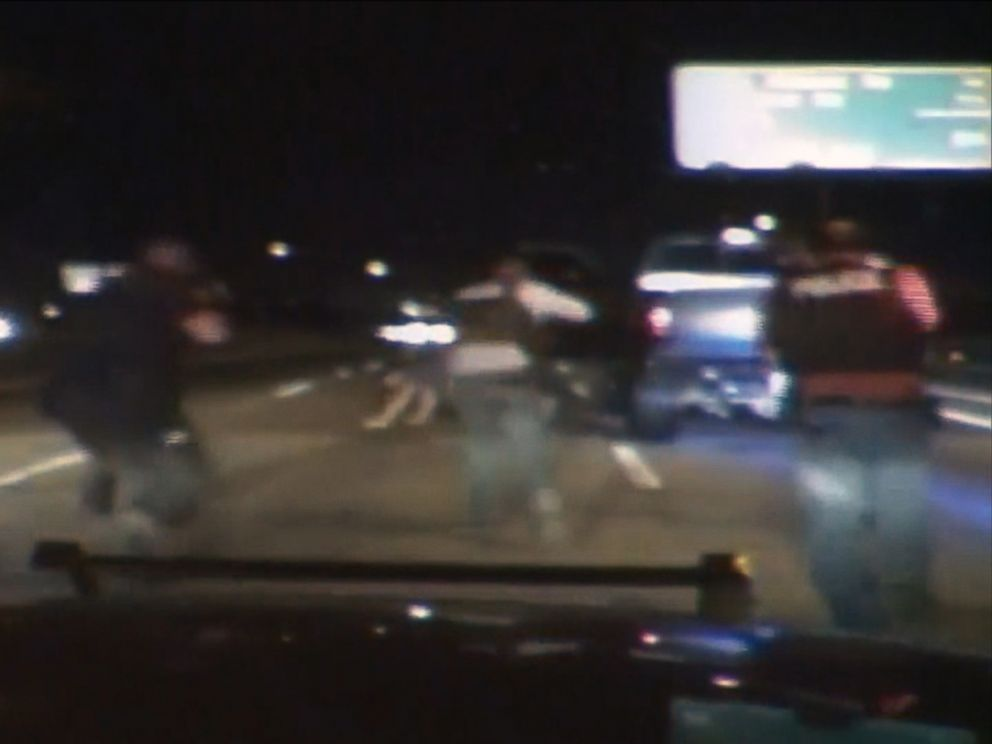 PHOTO: A video still from dash cam footage  that was shown during the trial of Eddie Ray Routh, who is accused of murdering Chris Kyle.