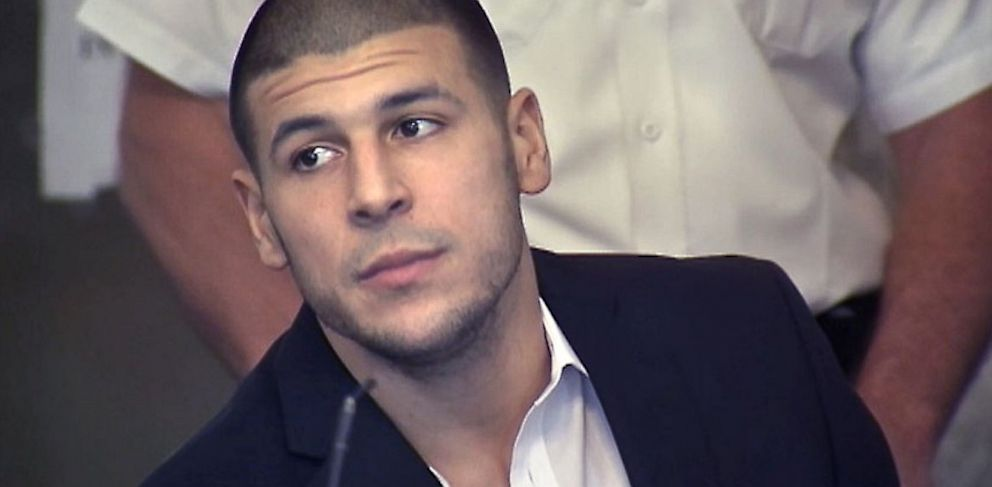 PHOTO:Former Patriots tight end Aaron Hernandez