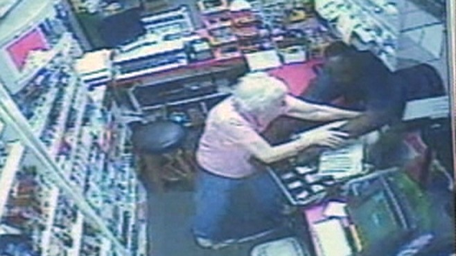 VIDEO: 69-year-old Caroline Ballou chased the suspect from a Virginia store.