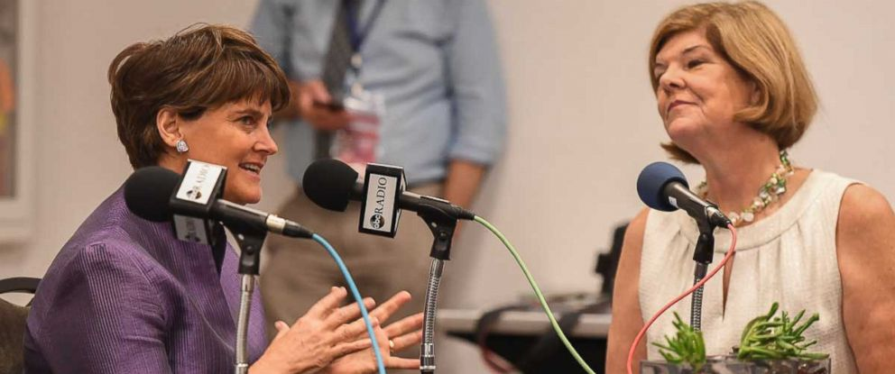 PHOTO: Anne Holton, left, wife of Vice President nominee Tim Kaine sat down with ABC News Radio contributor Ann Compton.