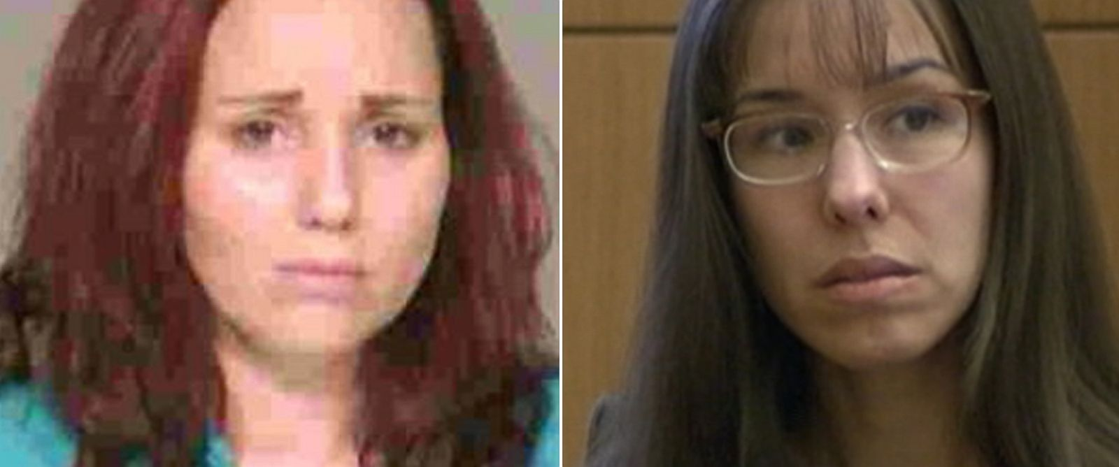 PHOTO: From left, Marissa DeVault in an undated mugshot, and Jodi Arias at her trial, March 4, 2012, in Phoenix.