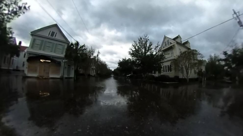 take a 360 tour of charleston sc before and after hurricane