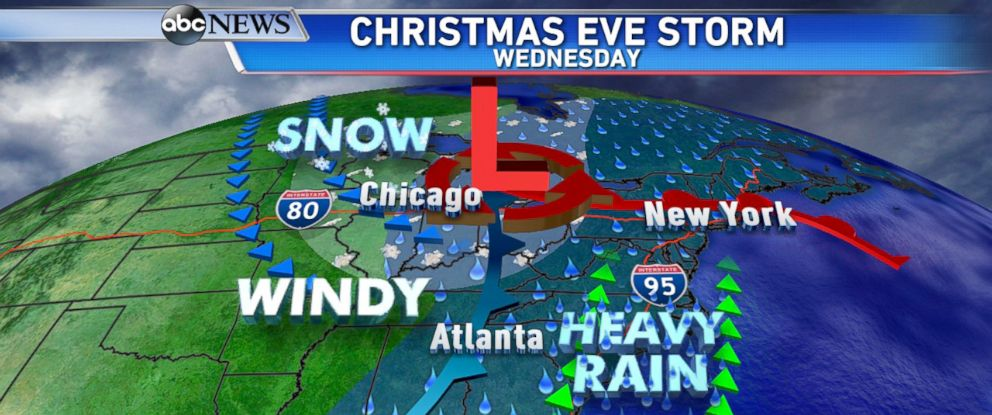 Christmas Forecast: Stormy Week to Bring Severe Weather and Lots of ...