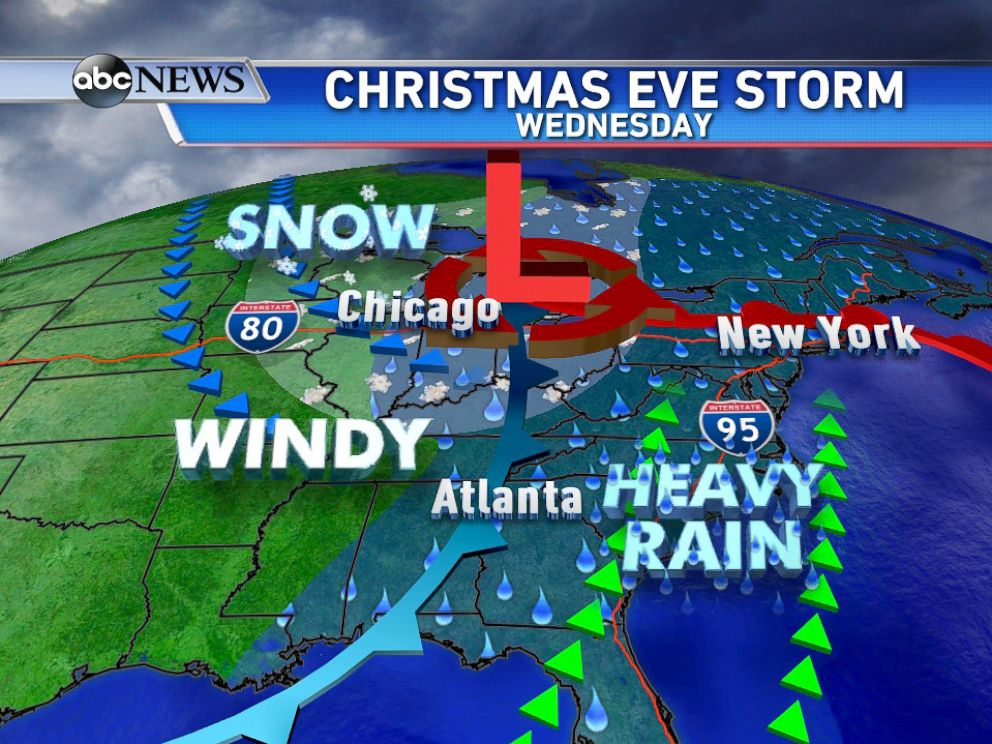Christmas Forecast Stormy Week To Bring Severe Weather And Lots Of Rain Abc News