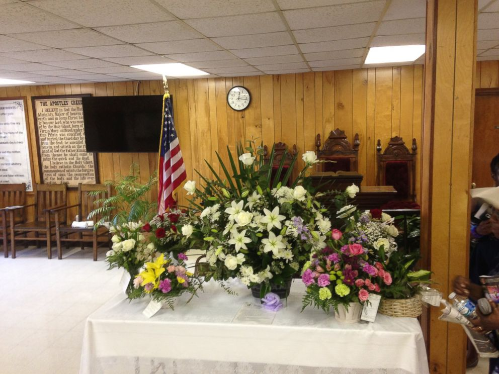 PHOTO: A memorial of flowers in the bible study room for the victims of the shooting at Charlestons Emanuel African Methodist Episcopal Church is pictured here on April 21, 2015.