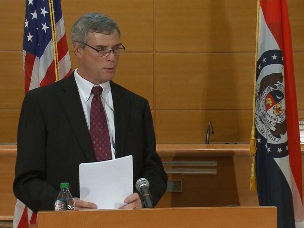 PHOTO: State prosecutor Bob McCulloch announced the grand jury decision Monday Nov. 24