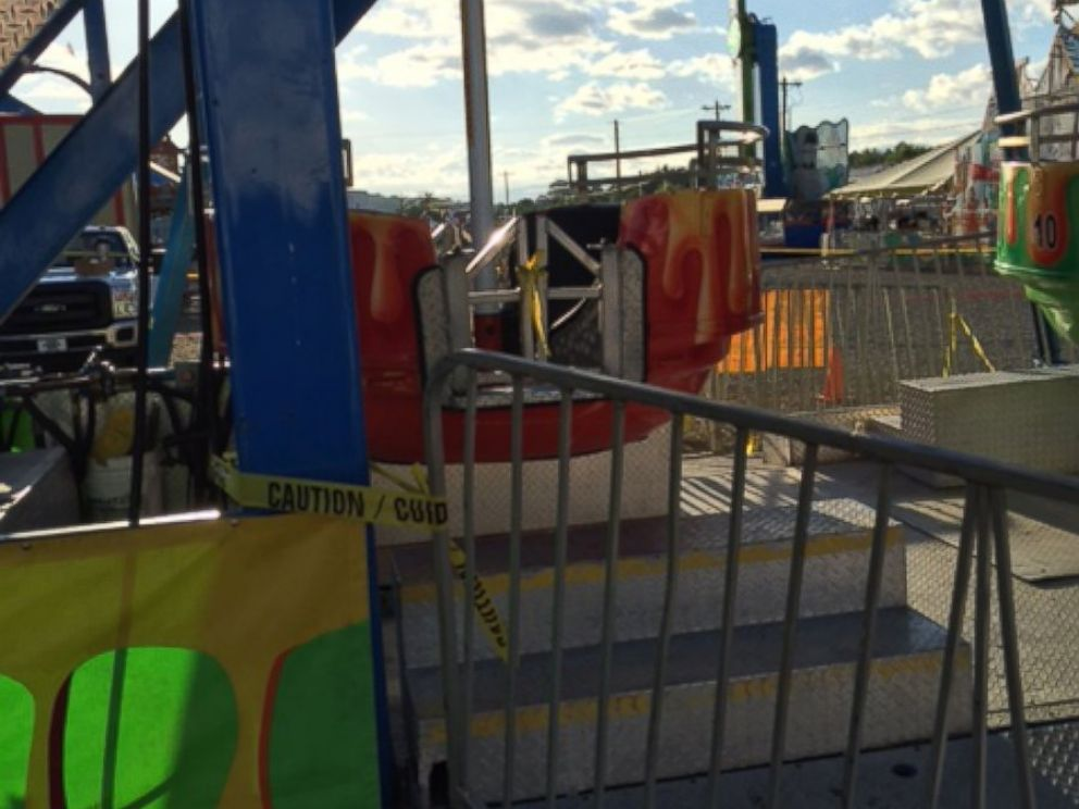 PHOTO: Three children are reported to have fallen out of a Ferris wheel at the Greene County Fair in Tennessee, Aug. 8, 2016.
