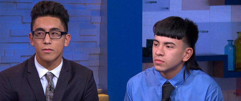 """PHOTO: Michael Moreno, left, and Victor Rojas appear on """"Good Morning America,"""" Sept. 18, 2015."""