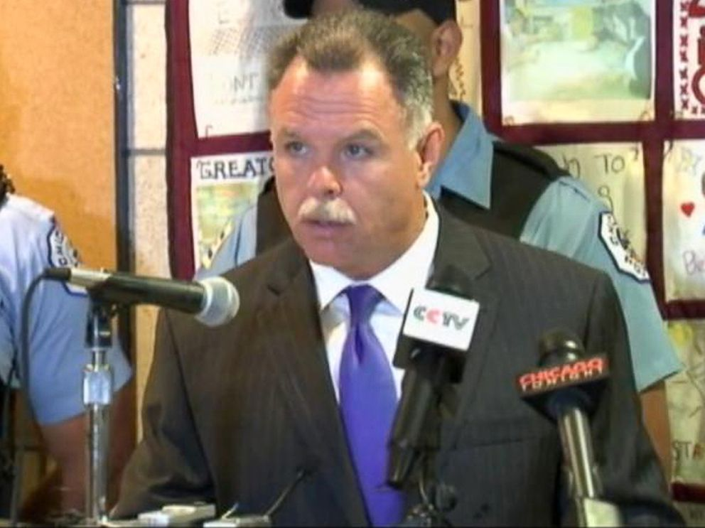 PHOTO: Chicago Police Superintendent Garry McCarthy holds a press conference on the recent violence over the July 4th weekend in Chicago, July 7, 2014.