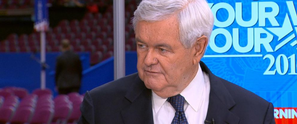 """PHOTO: Newt Gingrich appears on """"Good Morning America,"""" July 18, 2016."""