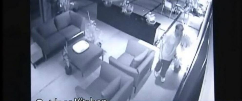 PHOTO: A man was caught on surveillance cameras burglarizing a home in Houston while its owners were inside.