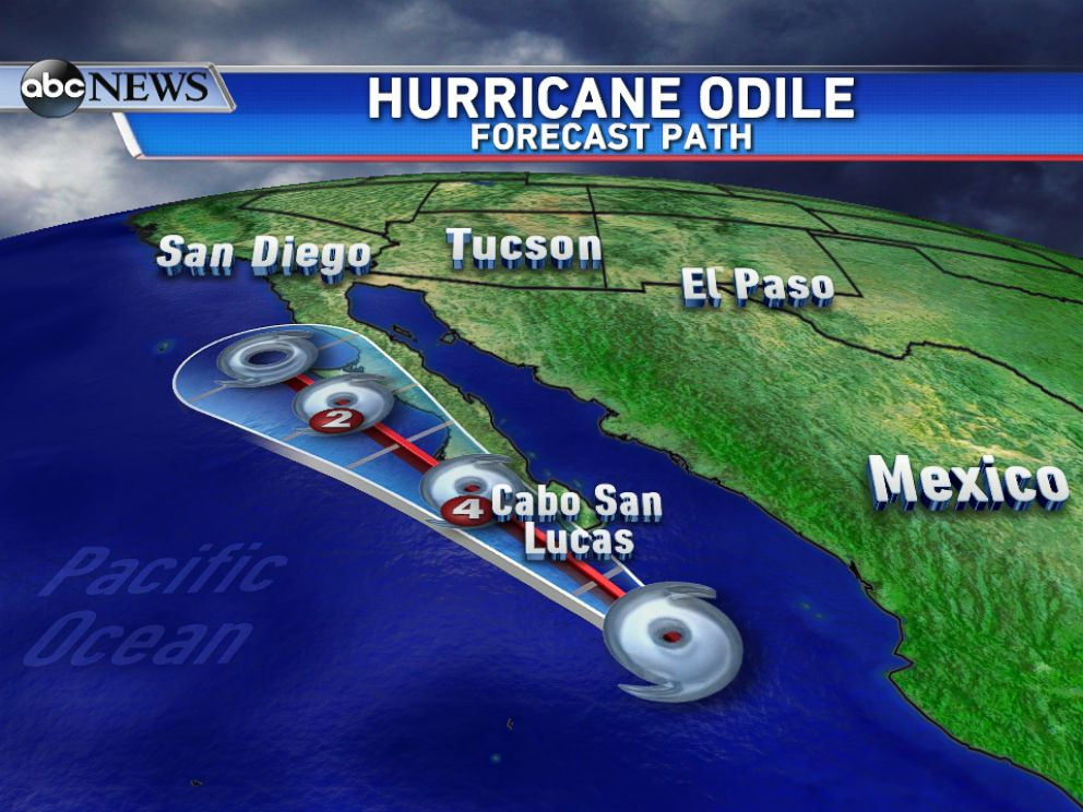 PHOTO: Odile is set to track just off the western coast of Mexicos Baja Peninsula through midweek.