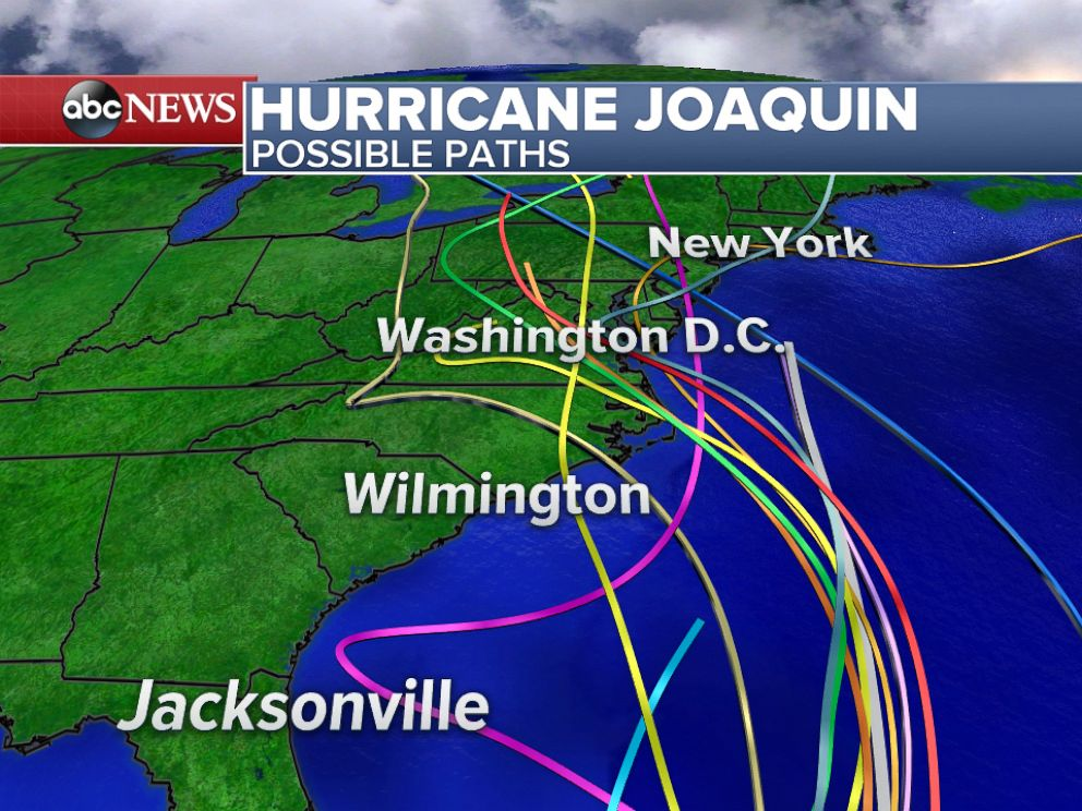PHOTO: Here are various models showing the predicted paths of Hurricane Joaquin.