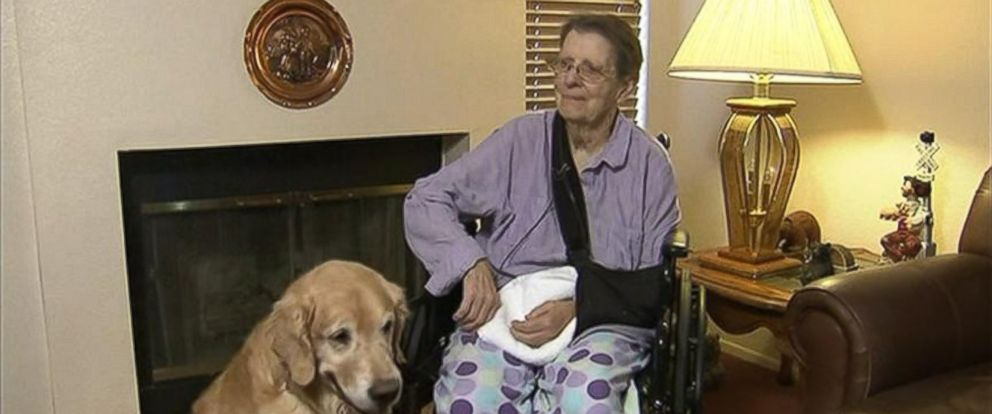 PHOTO: Judy Muh, 76, fell in her kitchen and couldnt get up for two days. She says that her two dogs kept her warm and comfortable during that time.