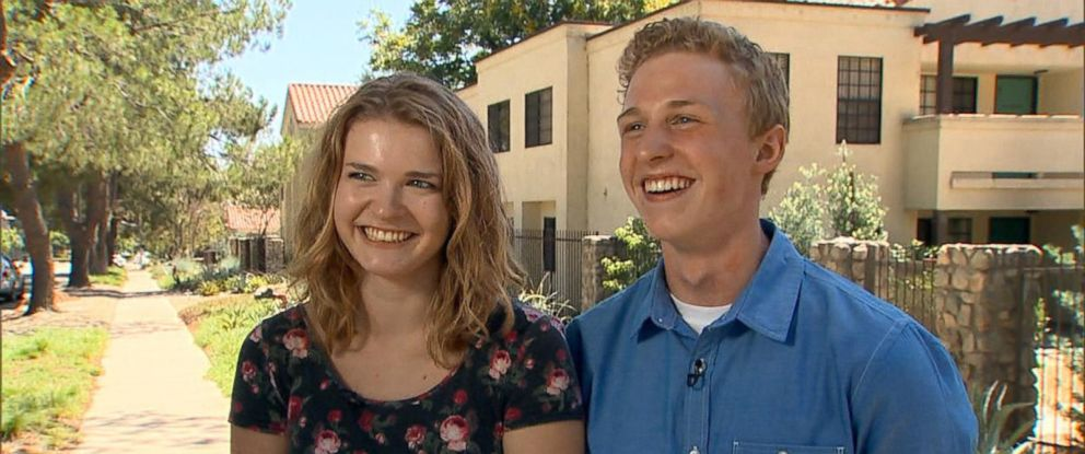 PHOTO: Dylan Corliss and Lexie Varga were walking Aug. 6, 2015 when they said they were struck by lightning.