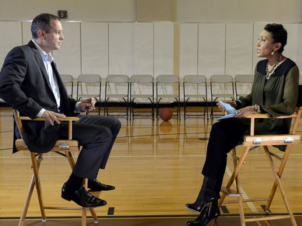 PHOTO: Former Rutgers University mens basketball coach Mike Rice spoke with Good Morning America anchor Robin Roberts