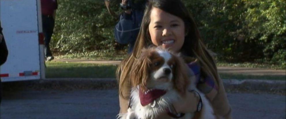PHOTO: Nina Pham reunites with her dog Bentley, Nov. 1, 2014.