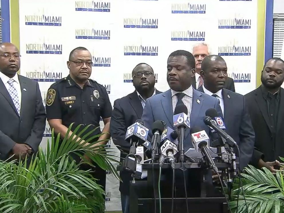 PHOTO: North Miami Police holds a news conference on police involved shooting, July 22, 2016.