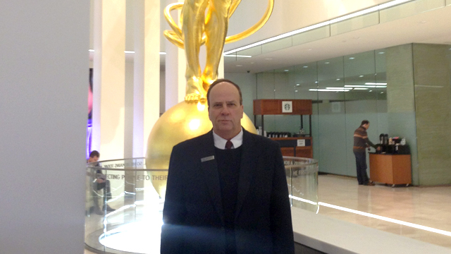 PHOTO: Pete Benedetto is a concierge at the AT&T headquarters in Dallas.