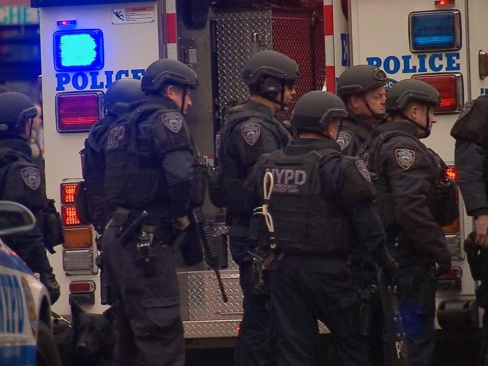 PHOTO: Two NYPD cops were shot in their patrol car in Brooklyn.