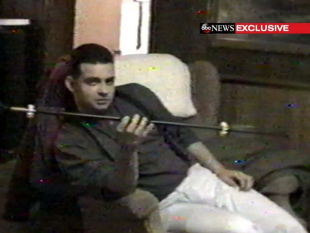 PHOTO: Video obtained by ABC News shows Richard Matt in 1997, playing with a blow dart gun.