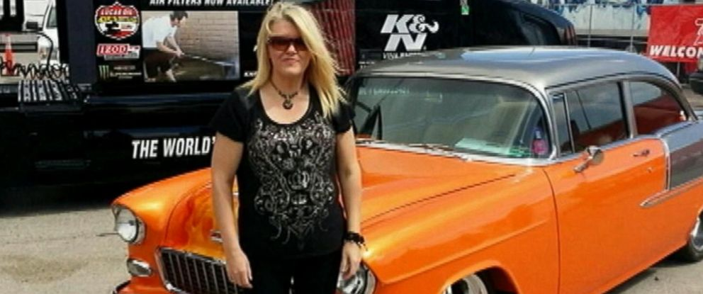 PHOTO: Tammy Meyers, pictured in front of her car in an undated family photo