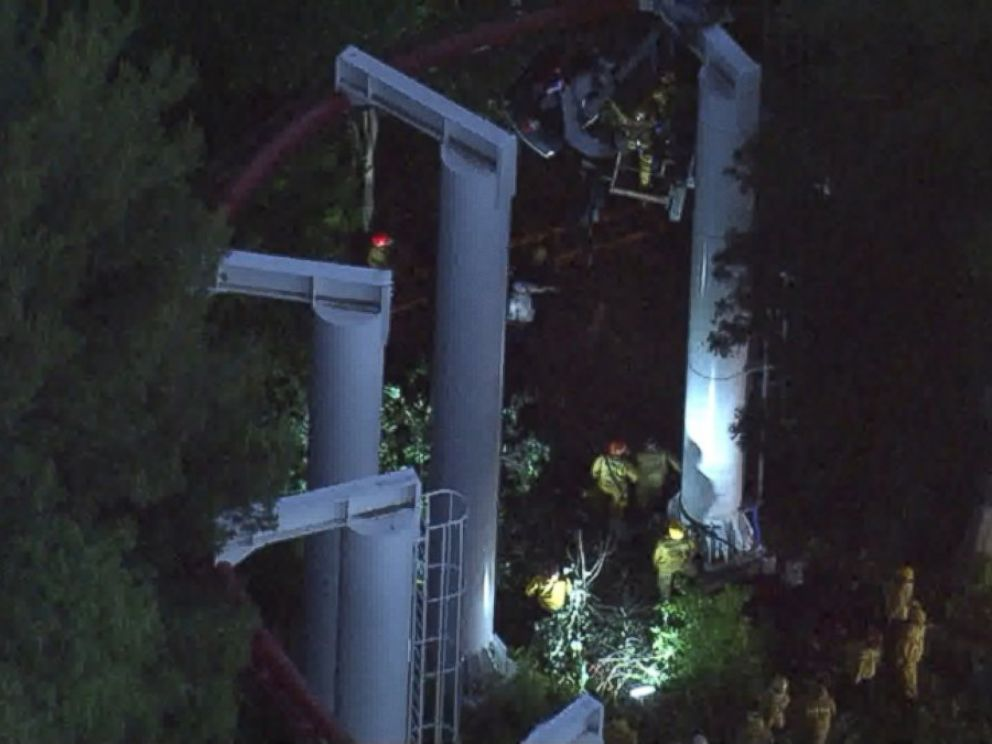 PHOTO: The ride remains closed as Six Flags inspects the area.