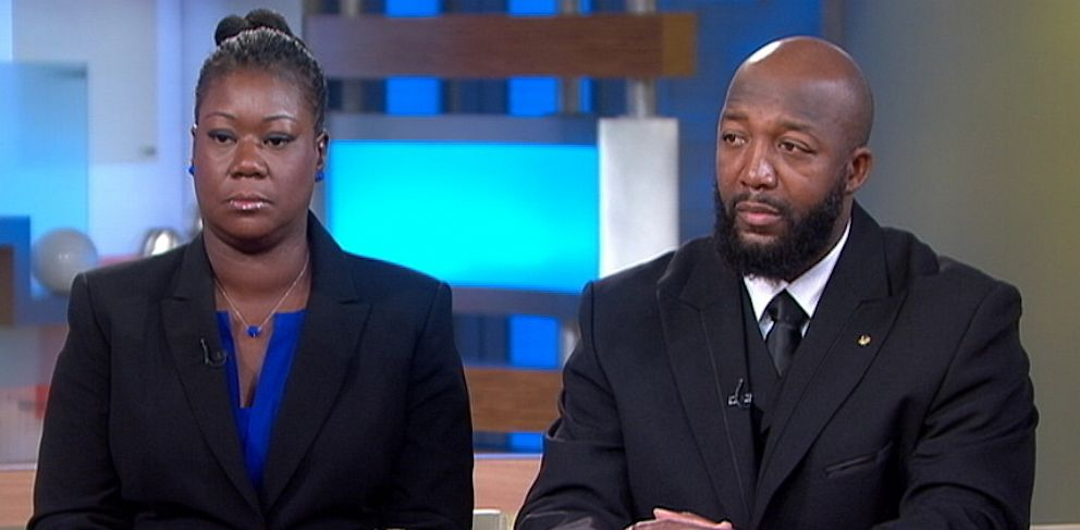 PHOTO: Sybrina Fulton and Tracy Martin, the parents of Trayvon Martin appear on Good Morning America,